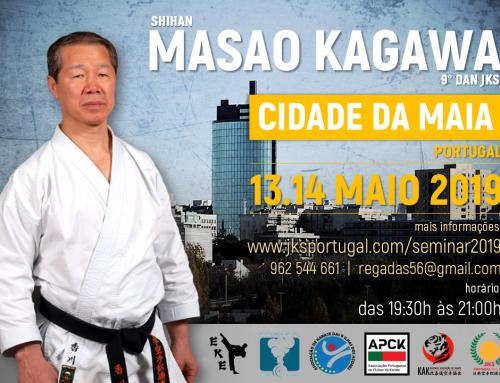 Sensei Kagawa na Cidade da Maia